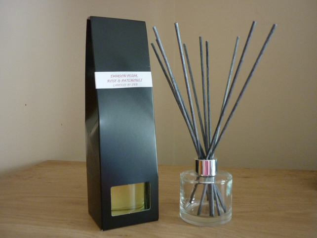 DAMSON PLUM, ROSE AND PATCHOULI  - REED DIFFUSER
