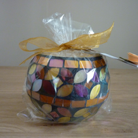 PEONY - SCENTED SOY CANDLE - MULTI COLOURED MOSAIC CANDLE.