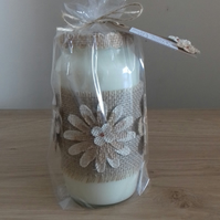 GINGER LILY - SCENTED SOY CANDLE - RECYCLED GLASS JAR CANDLE.