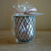 DAMSON PLUM, ROSE & PATCHOULI - SOY CANDLE - SILVER,PINK,GOLD DIAMOND CANDLE.