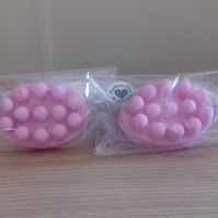RASPBERRY & COCONUT - MASSAGE BAR SHAPED SOAPS