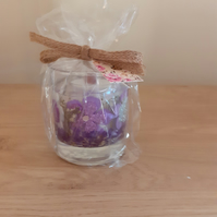 VIOLET SEDUCTION, SOY AND GEL SCENTED CANDLE.