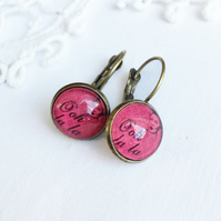 Vintage Style French 'Ooh La La' Earrings