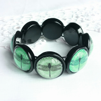 Emerald Green Dragonfly Bracelet