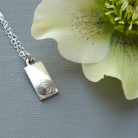 Sterling Silver Pendant With One Silver Shell: First Child First Baby