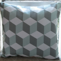 Three D Cube Design Cushion Cover
