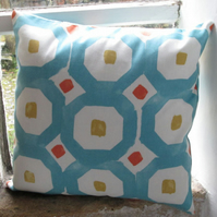 "Teal Geometric Cushion cover 40cm (16"")"