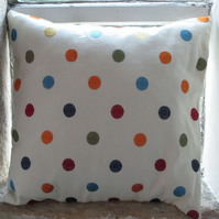 Embroidered Spots Dots Cushion Cover