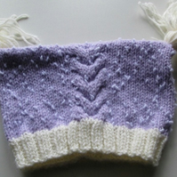 Lilac Baby Hat with Cute Tassels
