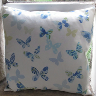 Pastel Blue Butterfly Cushion Cover