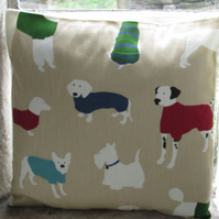 "Dog Design Cushion Cover 40cm (16"")"