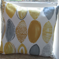 Mustard Ovals Geometric Cushion Cover