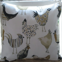 Chickens Cushion Cover 16""
