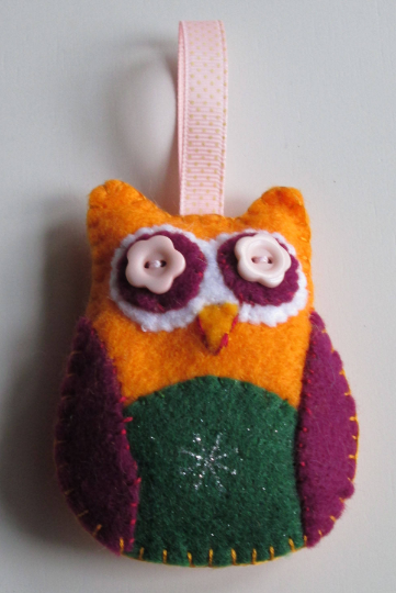 Felt Owl Hanging Decoration
