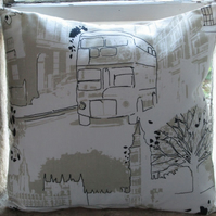 London Bus and Houses of Parliament Cushion Cover (2)