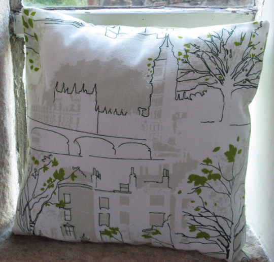 Houses of Parliament and Westminster Bridge Cushion Cover