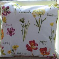 "Wildflowers Cushion Cover 16"" (40cm)"
