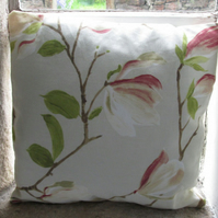 "Cream Magnolia Cushion Cover 16"" (40cm) (1)"