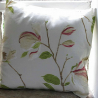 "Cream Magnolia Cushion Cover 16"" (40cm) (2)"