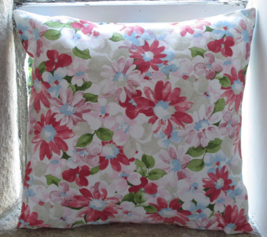 Pink Flowers Cushion Cover