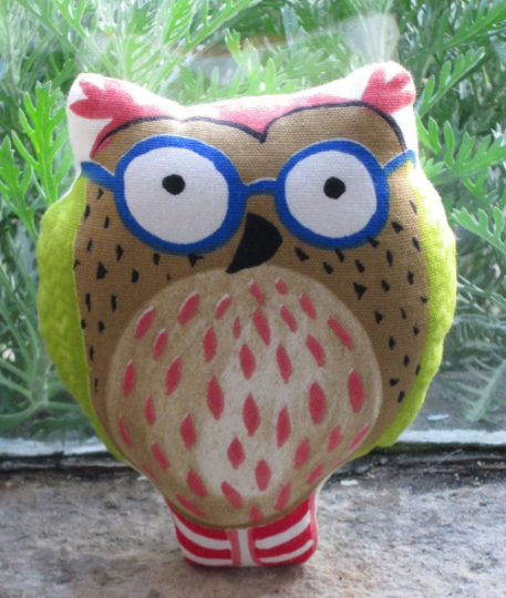 Cute Printed Owl Pin Cushion