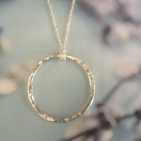 Sterling Silver Big Hoop Necklace and chain