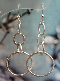 Sterling Silver Four Hoop Earrings