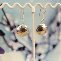 Sterling Silver Dome Earrings