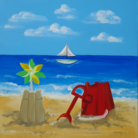 Bucket and spade canvas
