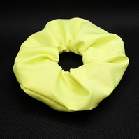 Neon yellow  high Visibility Waterproof large hair Scrunchie