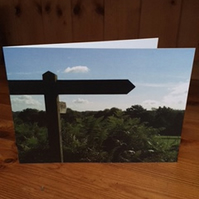 Greetings Card, Notelet, Blank - Walking Which Way