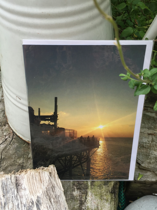 Greetings Card, Notelet, Blank - Reflecting on Brighton