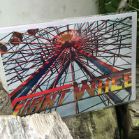 Fairground Rides on a Blank Greetings card