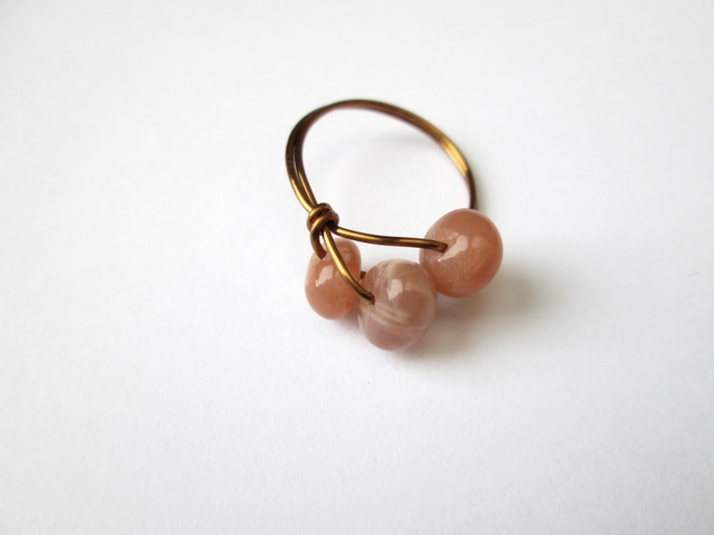 sunstone wire work ring