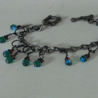 wire wrapped swarovski bracelet