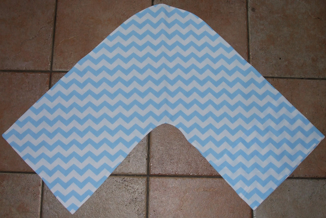 Handmade V Shaped Pillowcase in Chevron Fabric