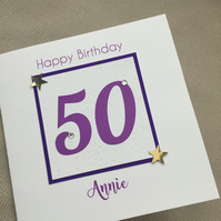 Handmade Personalised Birthday Card Special Age