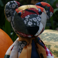 Autumn patchwork bear
