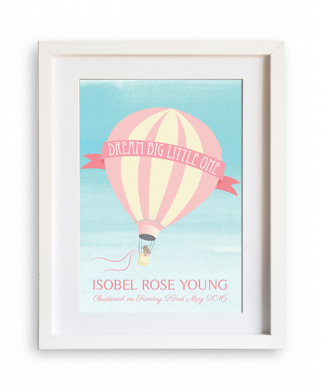 Dream Big Little One A4 print - personalised