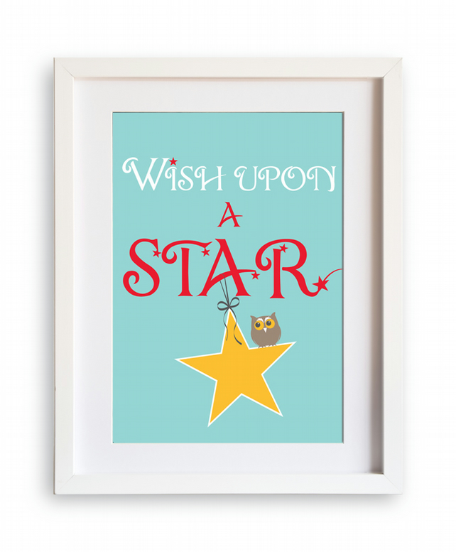 Wish upon a star A4 print