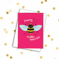 Dancing queen bee A6 card with envelope