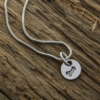 Recycled silver shooting star charm necklace