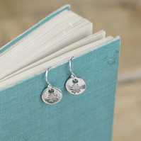 Silver dandelion seed charm earrings