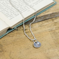 Silver branch charm necklace