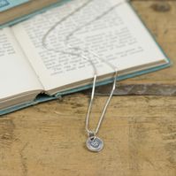 Silver vintage heart charm necklace