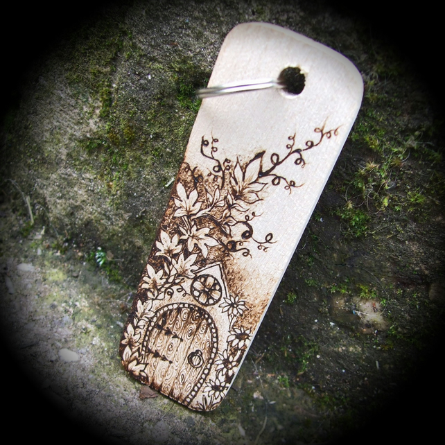 Arched Fairy Door Personalised Pyrography Woode Folksy