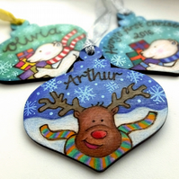 Personalised Christmas bauble shape tree decoration - Custom Designs