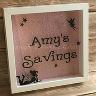 Personalised Fairy Sparkle Money Box Frame