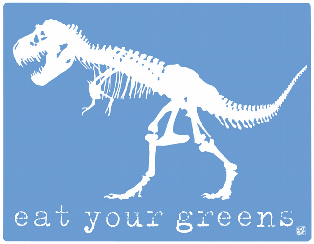 eat your greens! blue