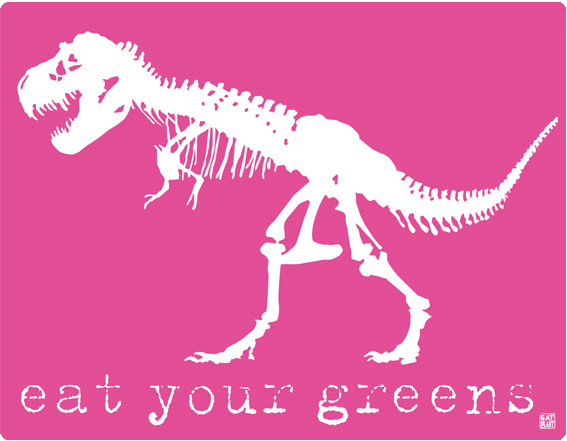 eat your greens! pink